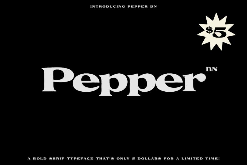 Bn Pepper [1 Font] | The Fonts Master