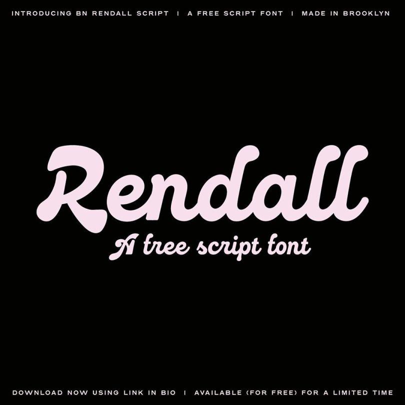 Bn Rendall Script [1 Font] | The Fonts Master
