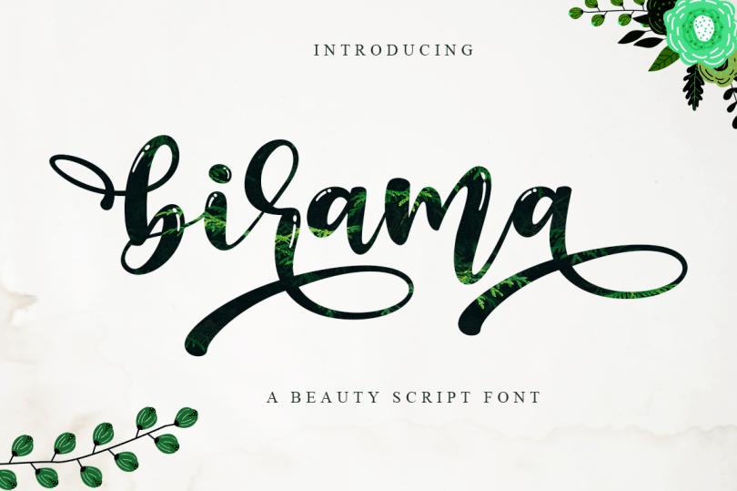 Birama [1 Font] | The Fonts Master