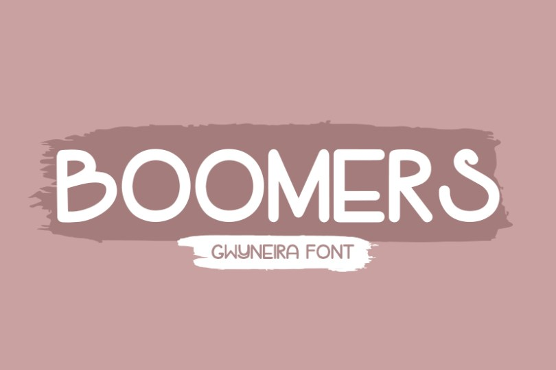Boomers [1 Font] | The Fonts Master