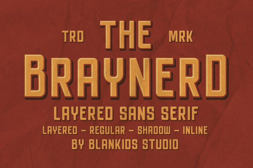 Braynerd [4 Fonts] | The Fonts Master
