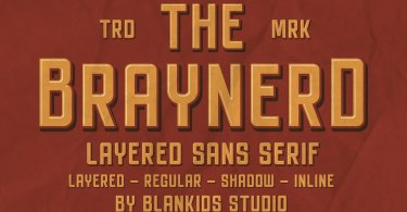 Braynerd [4 Fonts] | The Fonts Master