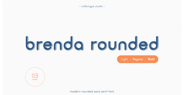 Brenda Rounded [3 Fonts] | The Fonts Master