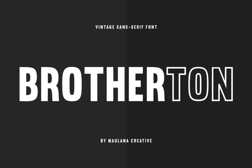 Brotherton [2 Fonts] | The Fonts Master