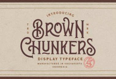 Brown Chunkers [1 Font] | The Fonts Master