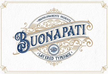 Buonapati [4 Fonts] | The Fonts Master