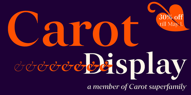 Carot Display Super Family [16 Fonts] | The Fonts Master