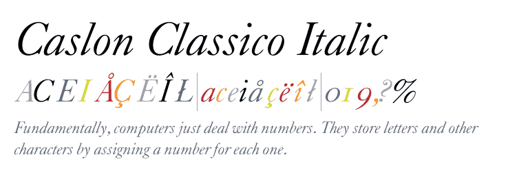 Caslon Classico Super Family [4 Fonts] | The Fonts Master