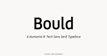 Bould [14 Fonts] | The Fonts Master