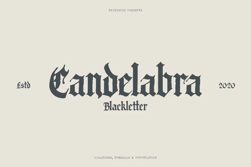 Candelabra [1 Font] | The Fonts Master