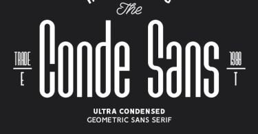 Conde Sans [2 Fonts] | The Fonts Master