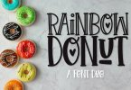 Rainbow Donut [2 Fonts] | The Fonts Master