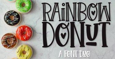 Rainbow Donut [2 Fonts] | The Fonts Master