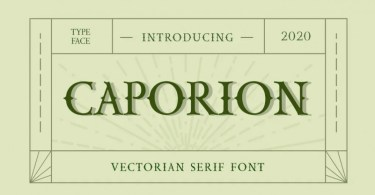 Caporion [1 Font] | The Fonts Master