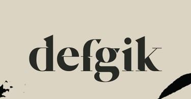 Defgik [1 Font]   The Fonts Master