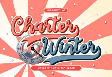 Charter Winter [1 Font]   The Fonts Master