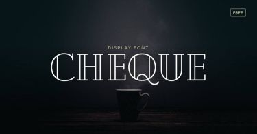 Cheque [2 Fonts] | The Fonts Master