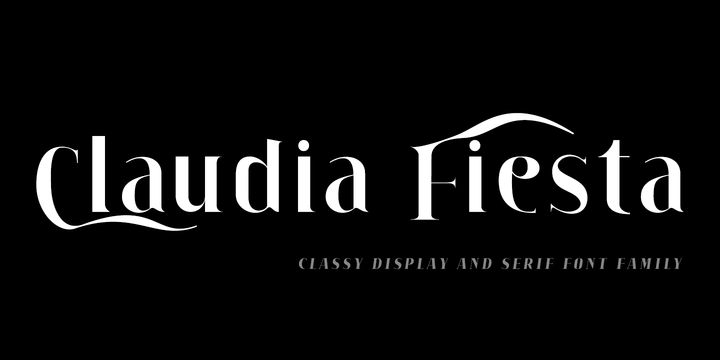 Claudia Fiesta [10 Fonts]   The Fonts Master