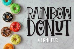 Rainbow Donut