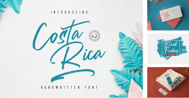 Costa Rica [2 Fonts] | The Fonts Master