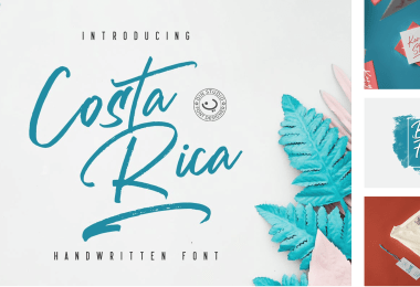 Costa Rica [2 Fonts]   The Fonts Master
