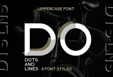 Dots &Amp; Lines [9 Fonts]   The Fonts Master