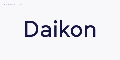 Daikon Super Family [16 Fonts] | The Fonts Master