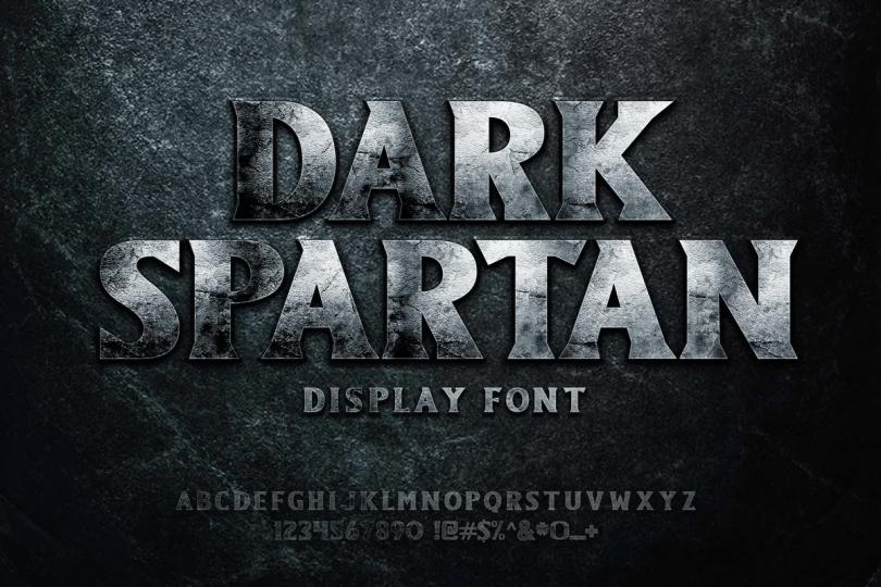 Dark Spartan [1 Font]   The Fonts Master
