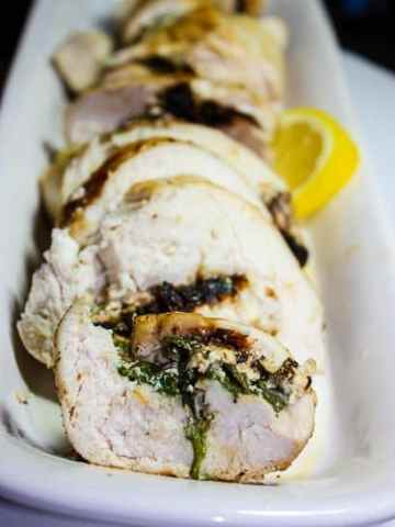 Spinach, Feta, Sundried Tomato Stuffed Chicken Breasts