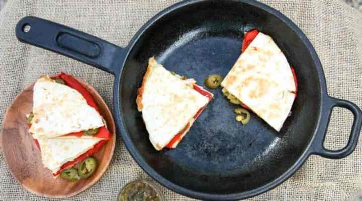 Quesadillas Roasted Red Pepper & Jalapeno