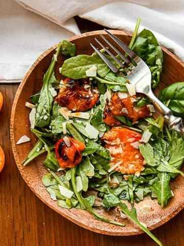 Grilled Apricots & Arugula Salad
