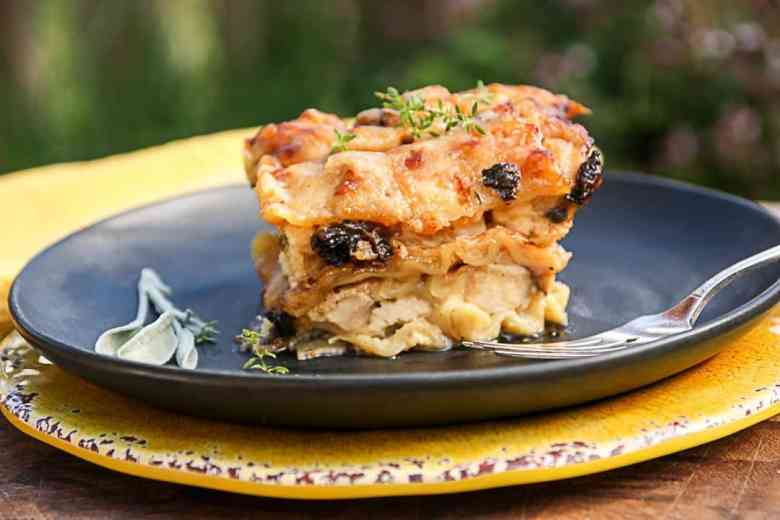 Chicken Lasagna with Morel Mushrooms