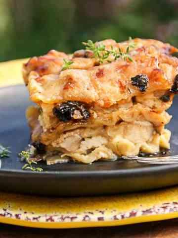 Chicken Lasagna with Morel Mushrooms