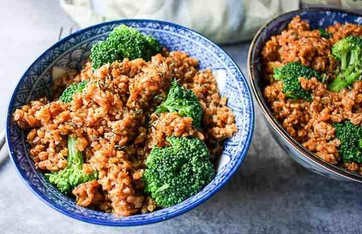 Broccoli Bulgur Pilaf