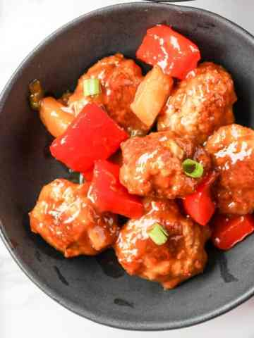 Oven Baked Sweet & Sour Meatballs