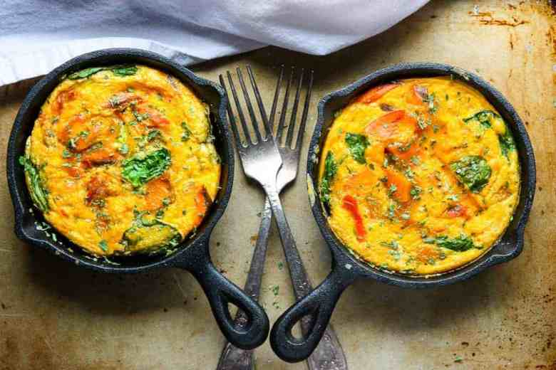 Sweet Potato Salmon Frittata