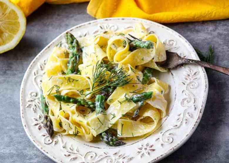 Lemon Pappardelle Asparagus Pasta