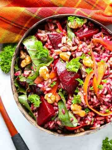Roasted Beet Wild Rice Salad