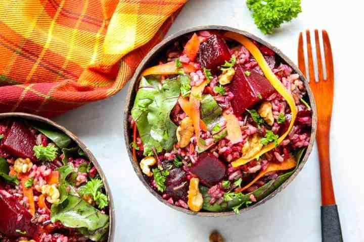 Roasted Beet Wild Rice Salad