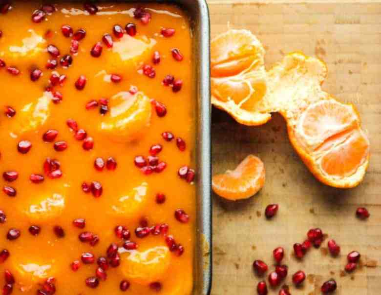 Mandarin Pomegranate Cheesecake