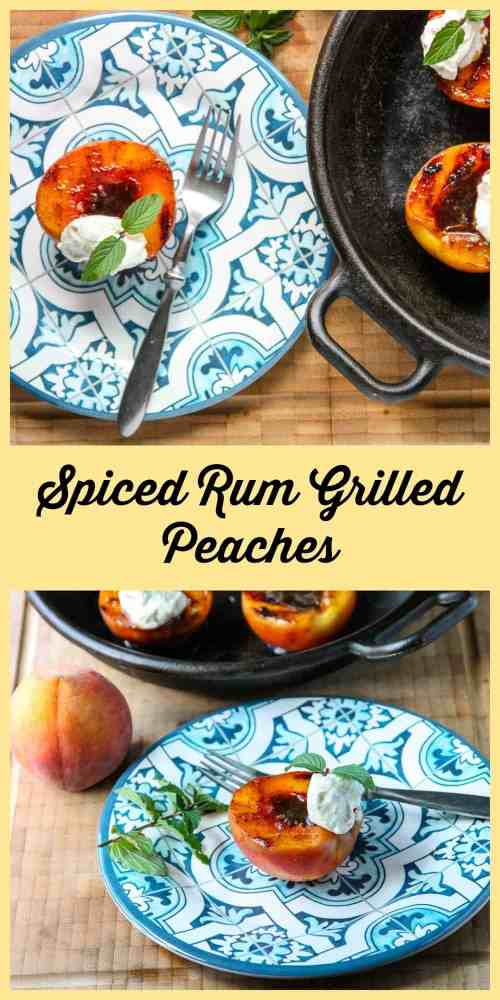 Spiced Rum Grilled Peaches