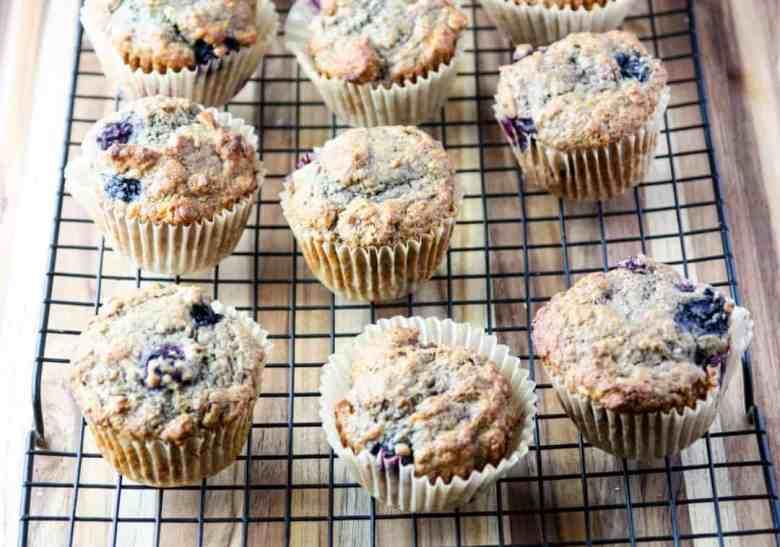 Banana Blueberry Spelt Muffins