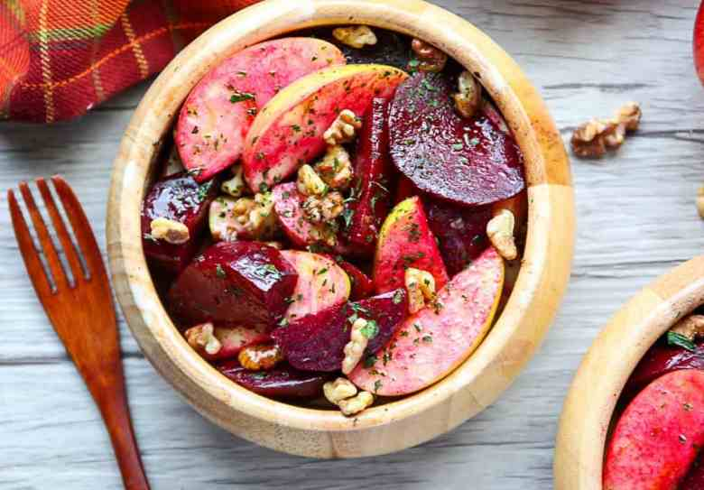 Roasted Beet, Apple, Walnut Salad