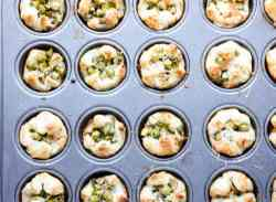 Appetizers in a muffin pan
