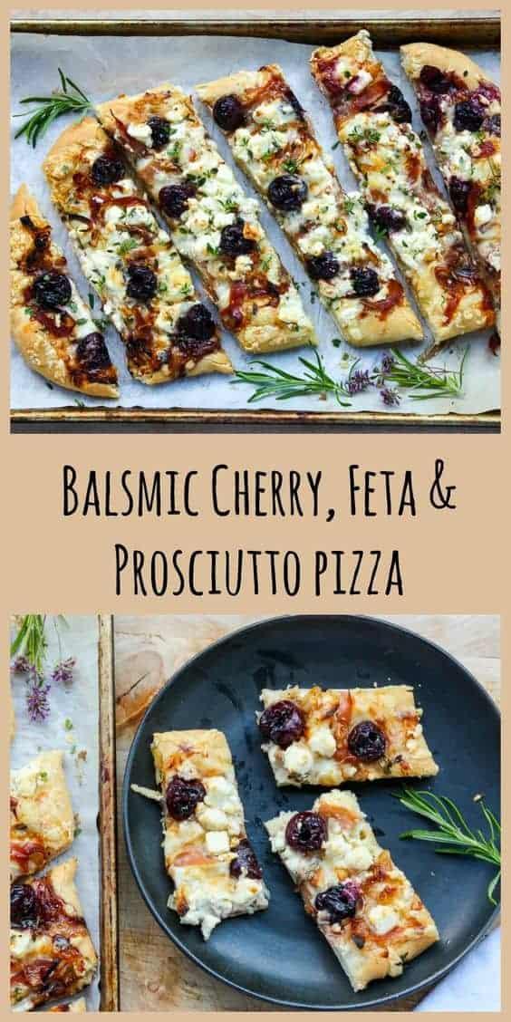 Balsamic Cherry, Feta Procuitto Pizza