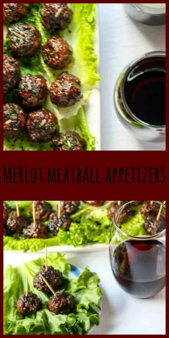 Pin Merlot Meatball Appetizers!