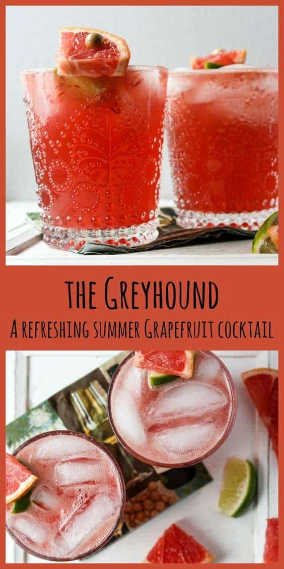 Greyhound Drink, A Grapefruit Cocktail