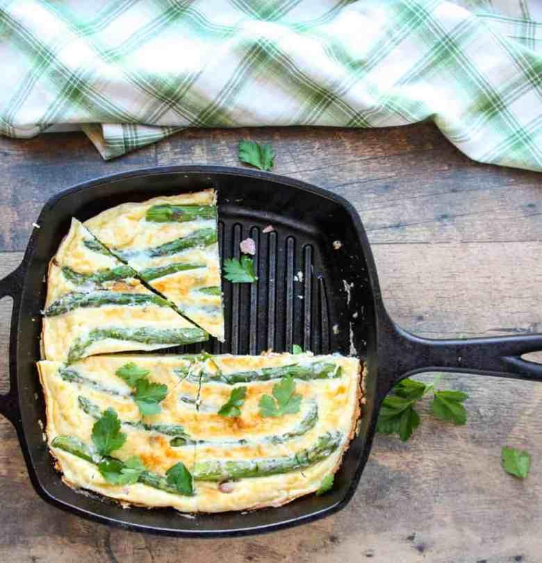 Ham & Asparagus Frittata