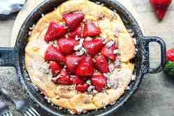 Strawberry Pecan Dutch Baby