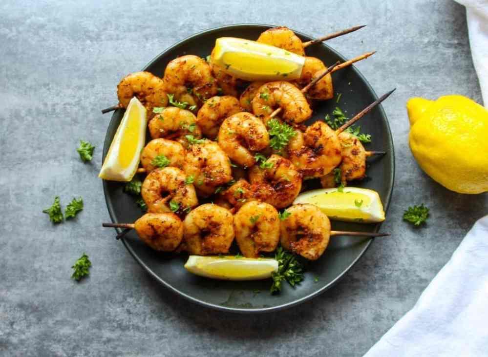 Grilled Lemon Garlic Shrimp